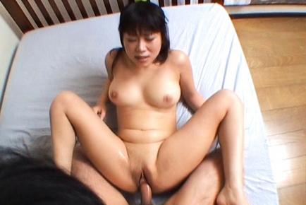 Rin Satomi Beautiful Asian maiden enjoys a real hard fucking