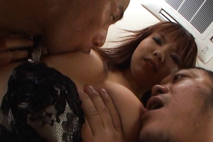 Himena Ebihara lovely Asian babe gets a rear fucking