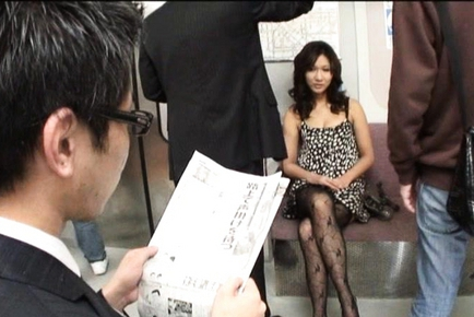 Asami Yoshikawa Pretty Japanese babe masturbates with dildo