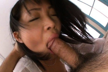 Hikaru Momose Asian babe shows off her tight pink pussy