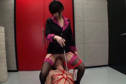 Busty teacher Kotori Hanagara gets wild and dirty