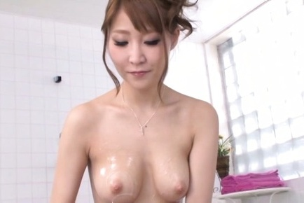 Top notch Asian milf with shaved pussy Rei Aimi experiences deep fucking