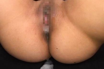 Sweet Japanese AV Model endures two cocks in her pussy